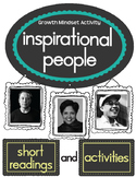 Growth Mindset: Inspirational People (Readings and Activities)