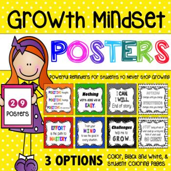 Growth Mindset Inspirational Posters – Polka Dot