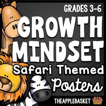 Growth Mindset Safari Themed Posters