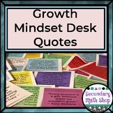 "Growth Mindset / Inspirational Quotes - ""Sticky Note"" Size"
