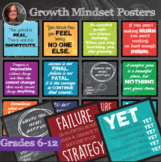 *Growth Mindset Inspirational Sayings - Middle & High Scho
