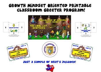 Growth Mindset Positive Student Interaction Classroom Greeter Program