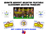 Growth Mindset Positive Student Interaction Classroom Gree