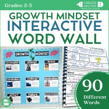 Growth Mindset Interactive Word Wall