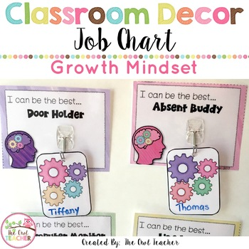 Growth Mindset Job Chart {EDITABLE too!}