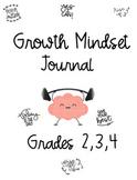 Growth Mindset Journal - Grades 2,3,4