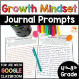 Growth Mindset Journal Prompts - Includes DIGITAL Option