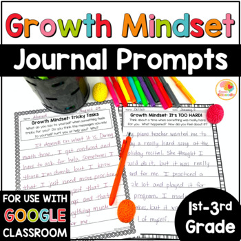 Growth Mindset Journal Prompts for 1st-3rd Grade