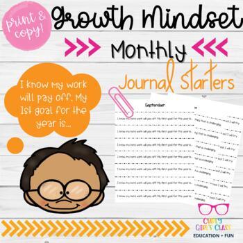 Growth Mindset Journal Starters Freebie