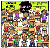 Growth Mindset Kids Clip Art Bundle