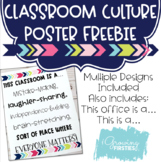 Growth Mindset, Kind, Caring Classroom Community Poster {Freebie}
