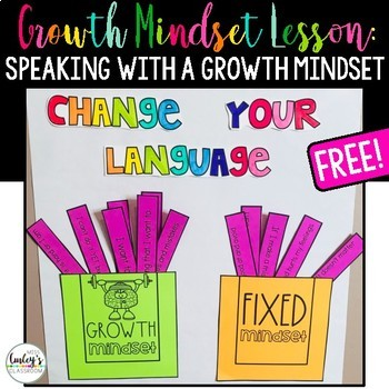 The Socialemotional Component Of >> Growth Mindset Language Lesson Free By The Social Emotional Teacher