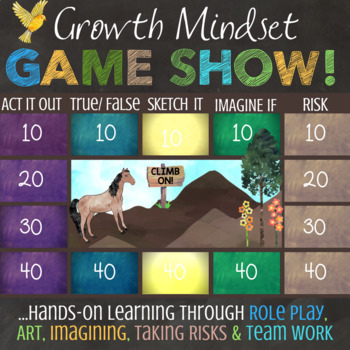 Growth Mindset Lesson: Fun, Interactive School Counseling Quiz Show style Game!
