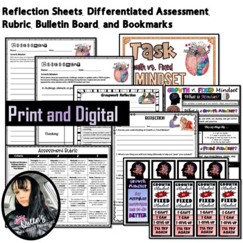 Growth Mindset Lesson Plan, PowerPoint, Worksheets, Answer Keys and MORE!