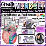 Growth Mindset Lesson Plan, PowerPoint, Worksheets, KEYS, and MORE! EDITABLE!!!