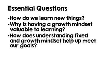Growth Mindset Lessons Powerpoint