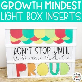 Growth Mindset Light Box Inserts- Heidi Swapp or Leisure Arts