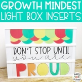 Growth Mindset Light Box Inserts- Heidi Swapp or Leisure Arts