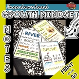 Growth Mindset Lunch Notes or Notebook Notes