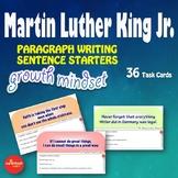 Growth Mindset - MLK Day - Paragraph Writing - Sentence Starters - NO PREP