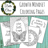 Growth Mindset Mandala Coloring Pages