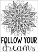 Growth Mindset Mandala Posters & Coloring Sheets