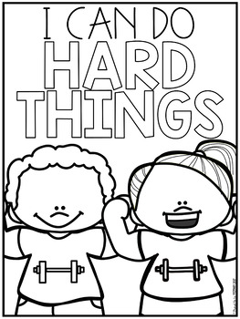 Free Coloring Page Growth Mindset Fun Time
