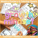 Growth Mindset SEL - Mantra Posters & Coloring Sheets {FRE