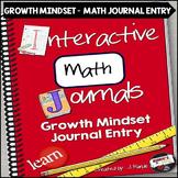 Growth Mindset Math Journal Entry