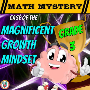 Growth Mindset Math Mystery 3rd Grade - Addition, Subtraction, Place Value +