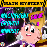 Growth Mindset Math Mystery Activity - 4th Grade Edition