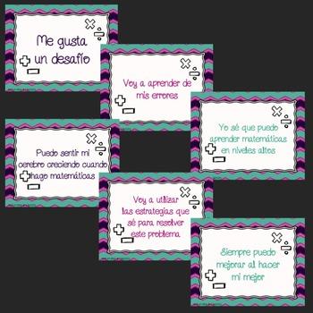 Growth Mindset - Math Posters (Spanish Version)