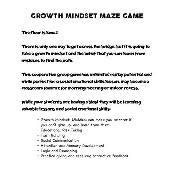 Growth Mindset Maze Game
