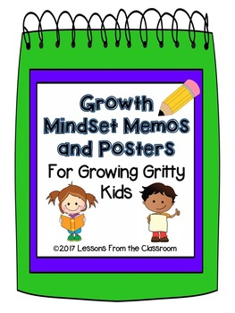Back to School Classroom Decor : Growth Mindset Memos and Posters