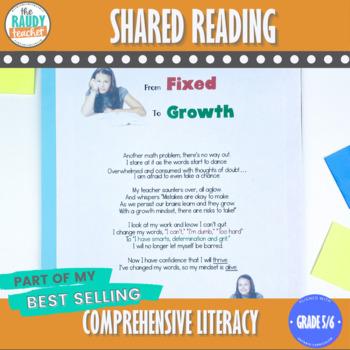 Shared Reading GROWTH MINDSET Bundle 1 Ontario Curriculum