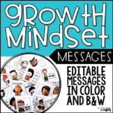 Growth Mindset | Growth Mindset Messages | Editable Sticky Notes