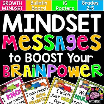 Growth Mindset Messages (Superhero Themed) for Grades 2-5