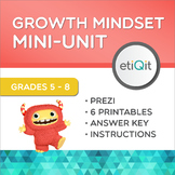Growth Mindset Middle School Mini-Unit   Prezi & Printables