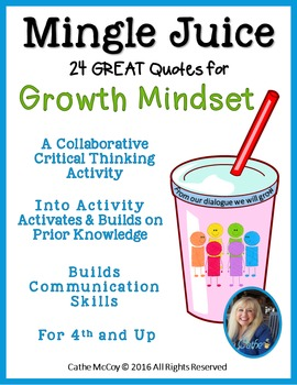 Collaboration Activity/Ice Breaker Activity using Growth Mindset Quotes