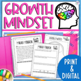 Growth Mindset Mini Biographies Activity With Bookmarks