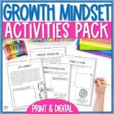 Growth Mindset Activity Bundle Pack - Printable & Digital