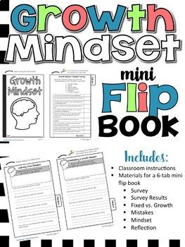 Growth Mindset Mini Flip Book