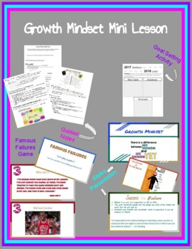 Growth Mindset Mini Lesson for Google Slides- Includes Guided Notes and Activity