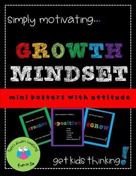 Growth Mindset Mini Posters
