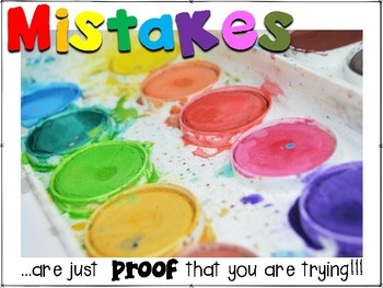 Growth Mindset-Mistakes Poster