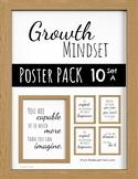 Growth Mindset - Modern Farmhouse Poster Pack - 10 Set A -