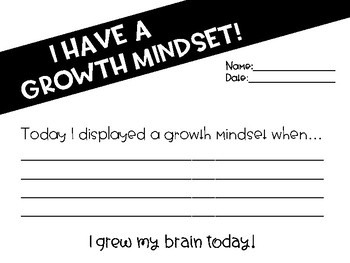 Growth Mindset Moment