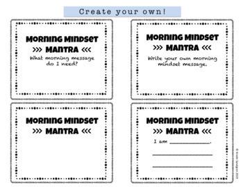Growth Mindset Morning Mantras - Editable!