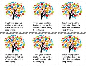 Growth Mindset Motivational Cards for students