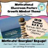 Growth Mindset Motivational Classroom Posters w/ Bonus PPT